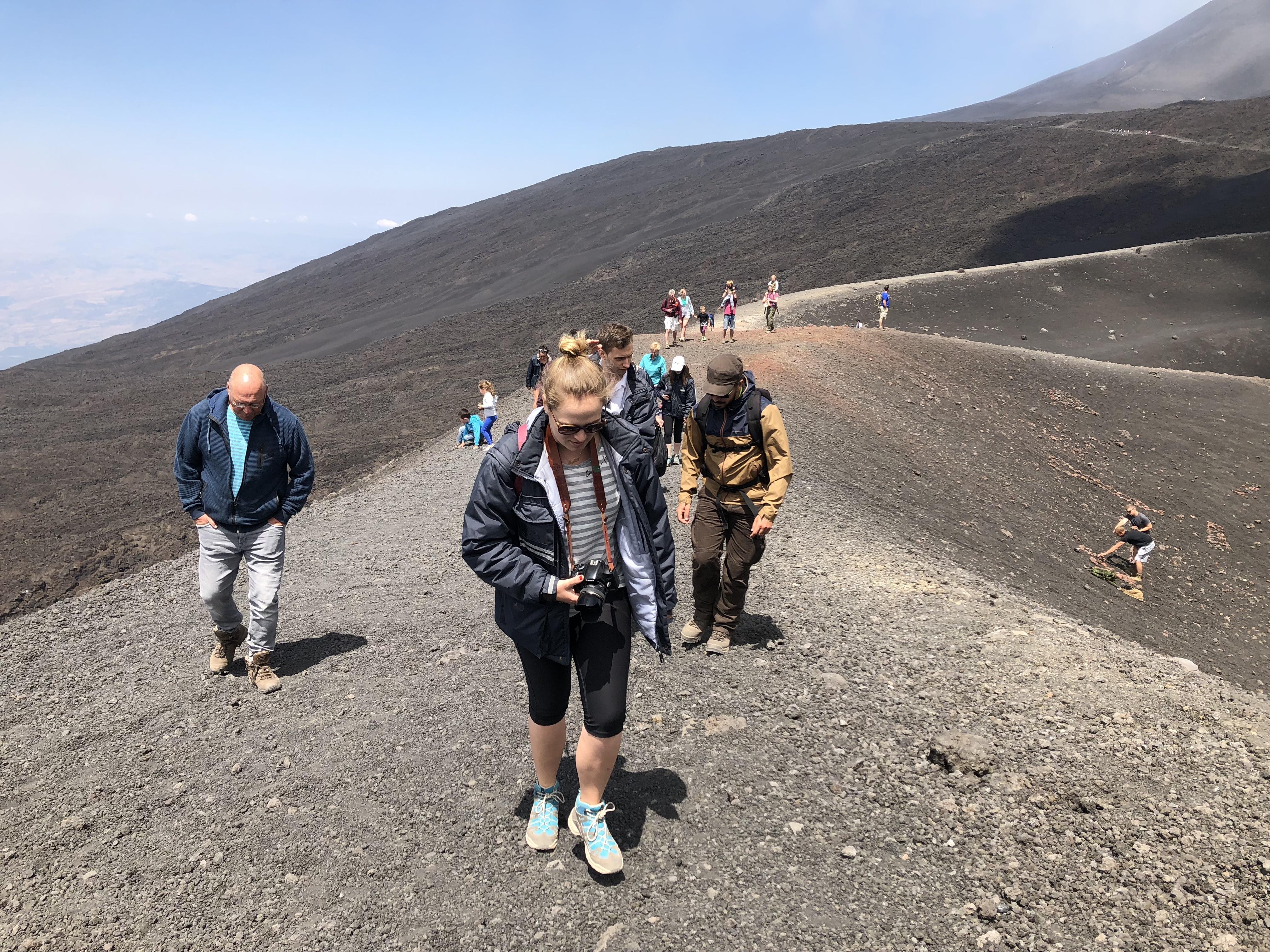 Etna Randonnée à 3000m.