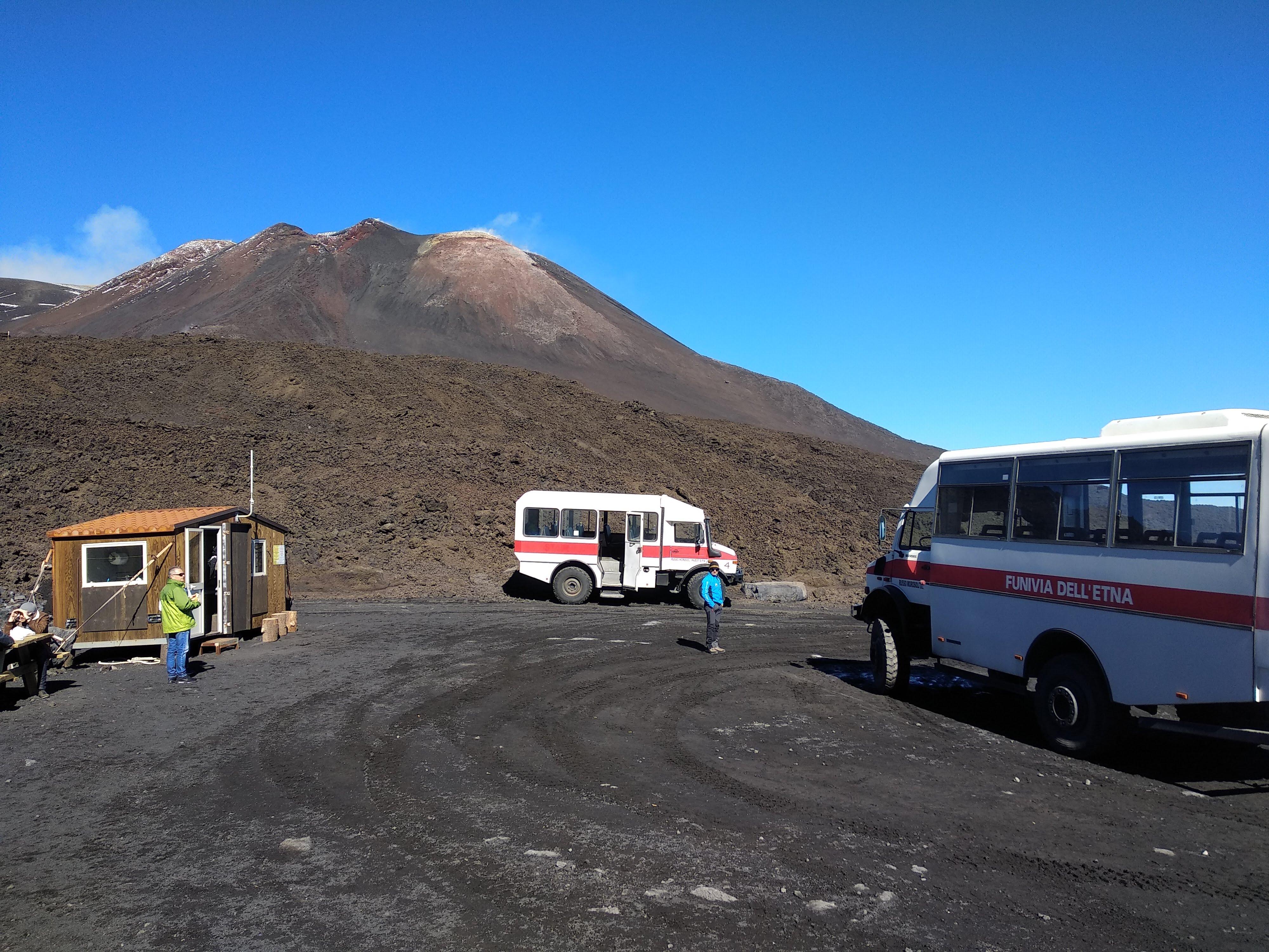Point d'arrivée Jeep 4x4 Etna