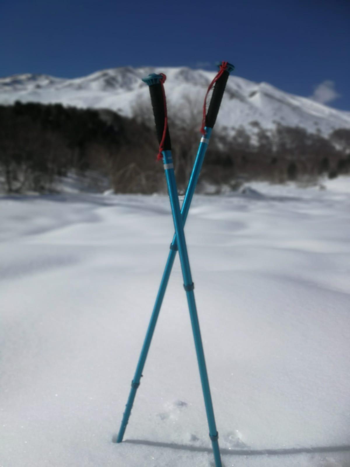 Neige sur l'Etna en hiver